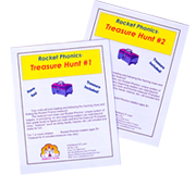 Rocket Phonics Treasure Hunt - 2 hunts